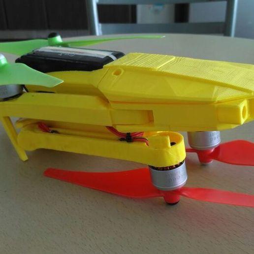 Télécharger fichier 3D gratuit Cadre de bourdon pliable (aspect Mavic, alternative corps & tête) Remix, mwilmars