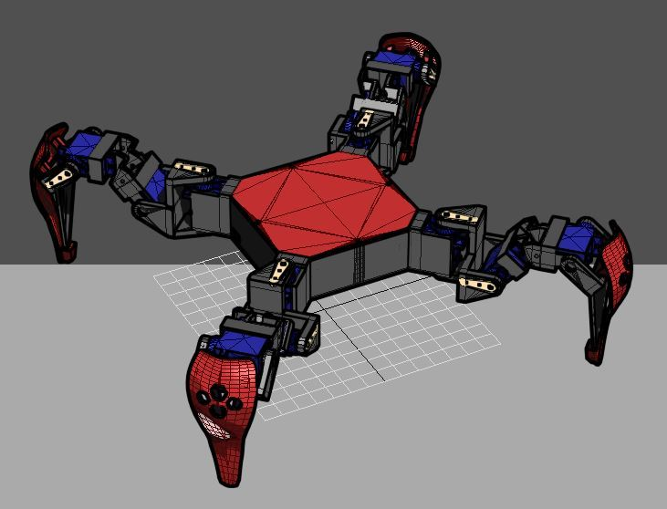 initial_pose.JPG Download free STL file SG90 Servo Quadruped frame mode B • 3D print object, mwilmars
