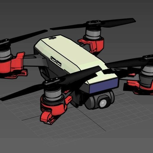 spider3.JPG Download free STL file DJI Spark Foldable Spider Leg • Model to 3D print, mwilmars