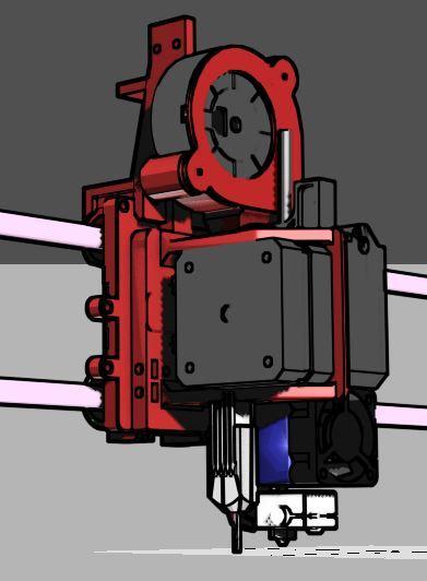 11.JPG Télécharger fichier STL gratuit Hypercube E3D V6 Titan Titan à entraînement direct Porte-extrude • Design à imprimer en 3D, mwilmars