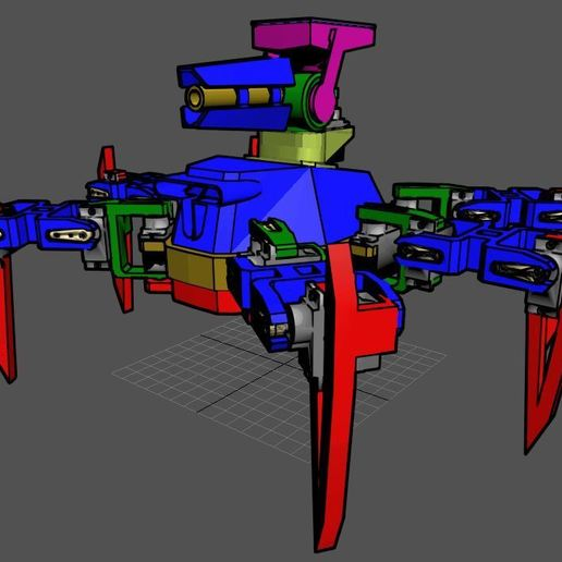 2.JPG Download free STL file Hex Robo V1 Cannon Module • 3D printing object, mwilmars