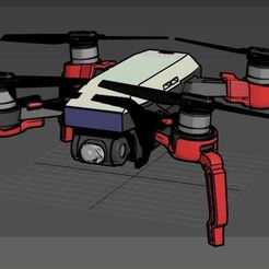 Download free 3D printing templates DJI Spark Foldable Spider Leg, mwilmars