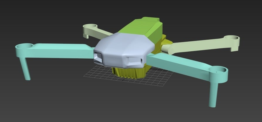 open.PNG Download free OBJ file Foldable drone frame (Mavic look like) • 3D printing design, mwilmars