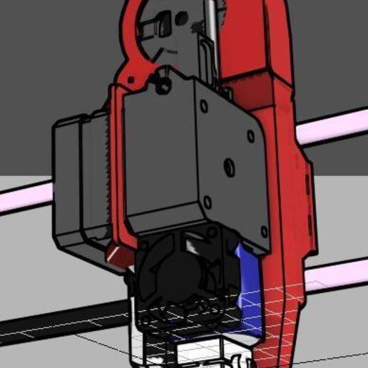 22.JPG Télécharger fichier STL gratuit Hypercube E3D V6 Titan Titan à entraînement direct Porte-extrude • Design à imprimer en 3D, mwilmars