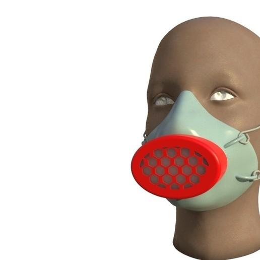 untitled.347.jpg Télécharger fichier STL gratuit Masque filtrant (Covid 19) • Modèle pour impression 3D, Designandmore3D
