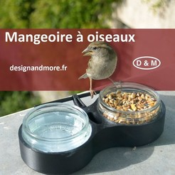 mangeoire à oiseaux miniature 3.jpg Download free STL file Bird feeder • 3D printer object, Designandmore3D