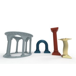 Download 3D printer model Roman columns (architectural furniture), Designandmore3D