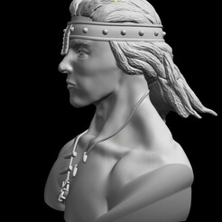 Conan3.jpg Download free STL file Conan Bust • 3D printer model, djpishu