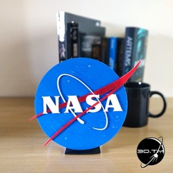 "NASA_001.jpg Download free STL file NASA ""Meatball"" Insignia • 3D printable model, tmatosc"