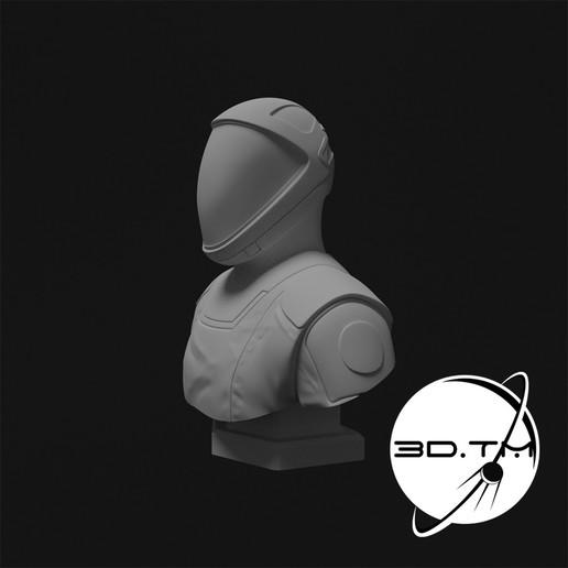 bust_0008.jpg Descargar archivo STL Busto de Hombre Estelar - Busto de la tripulación de SpaceX • Modelo para la impresora 3D, tmatosc