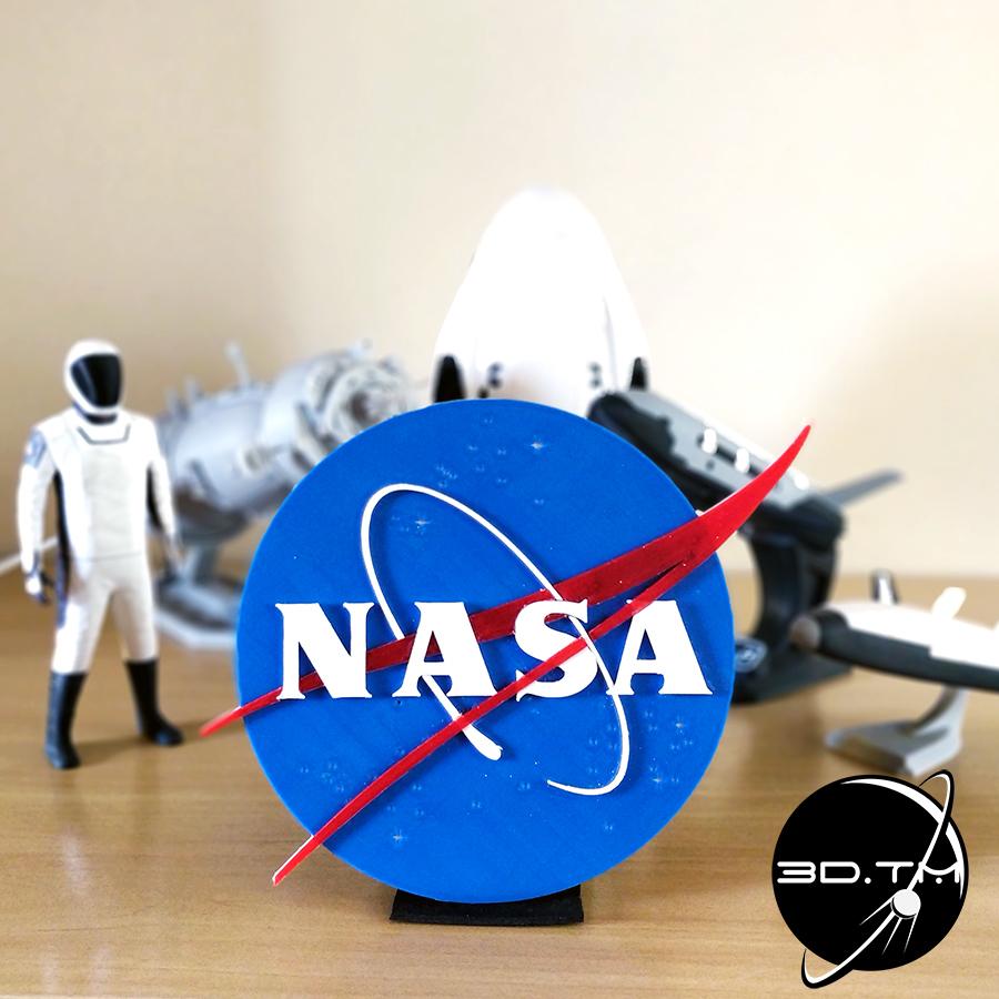 """NASA_003.jpg Télécharger fichier STL gratuit Insigne """"Meatball"""" de la NASA • Objet pour impression 3D, tmatosc"""