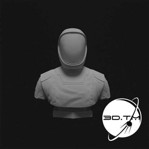 bust_0007.jpg Descargar archivo STL Busto de Hombre Estelar - Busto de la tripulación de SpaceX • Modelo para la impresora 3D, tmatosc