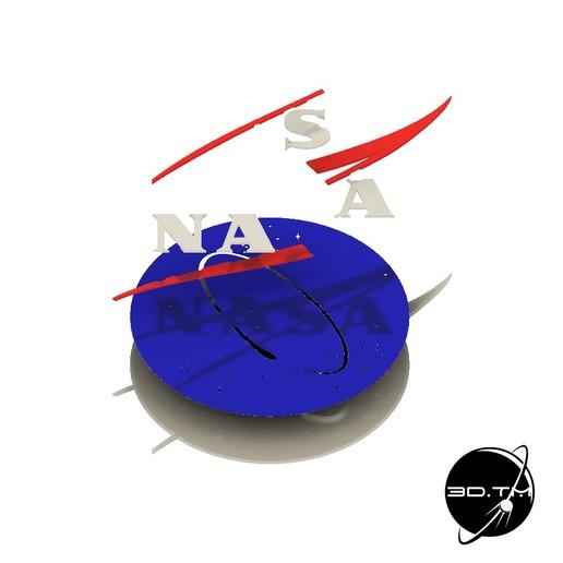 """NASA_007.jpg Télécharger fichier STL gratuit Insigne """"Meatball"""" de la NASA • Objet pour impression 3D, tmatosc"""