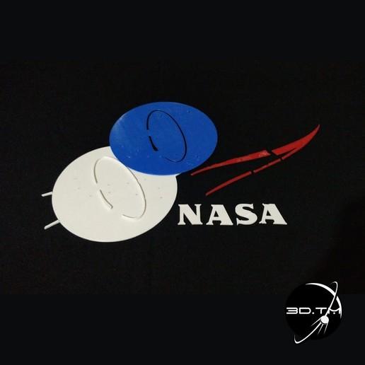 """NASA_008.jpg Télécharger fichier STL gratuit Insigne """"Meatball"""" de la NASA • Objet pour impression 3D, tmatosc"""