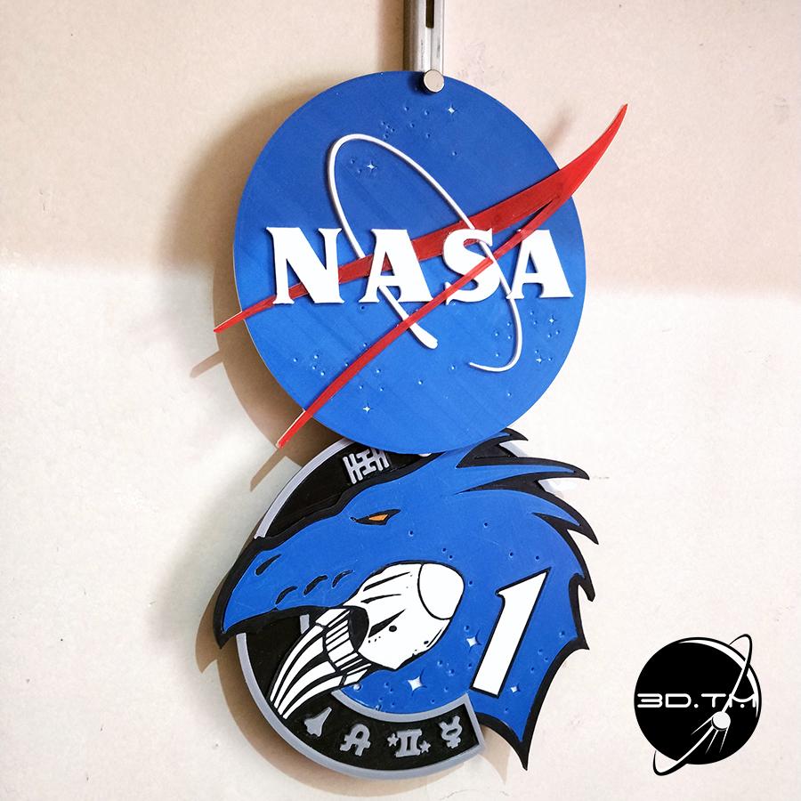 """NASA_006.jpg Télécharger fichier STL gratuit Insigne """"Meatball"""" de la NASA • Objet pour impression 3D, tmatosc"""