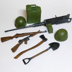 Download STL file US WW2 Accessories - 1/10 Scale • 3D printable object, tmatosc