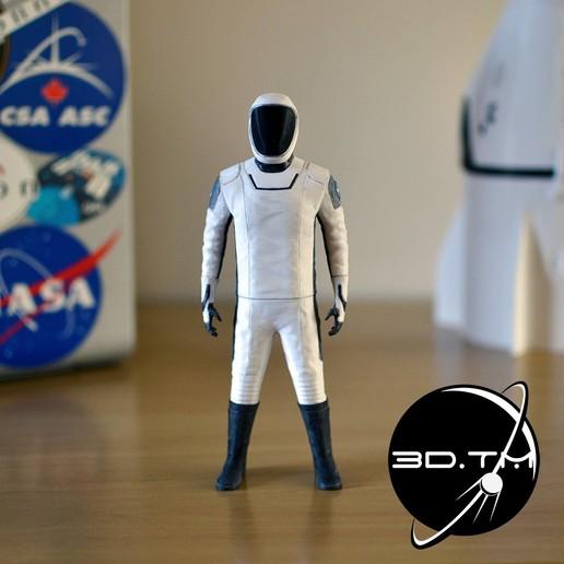 0001.jpg Download STL file Starman Space Suit (SpaceX Crew) • Design to 3D print, tmatosc