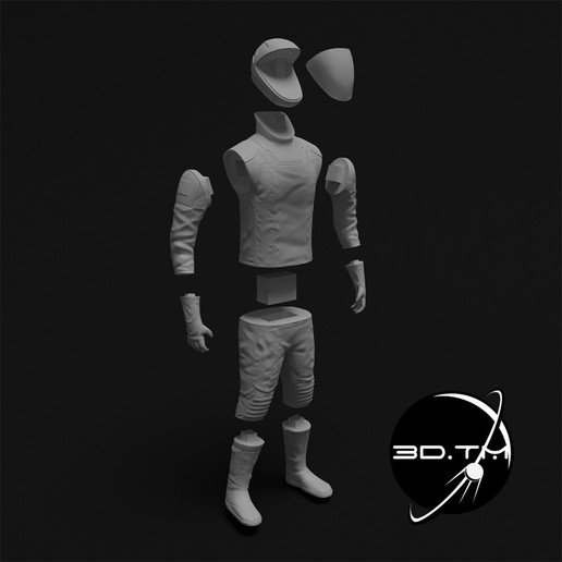rd013.jpg Download STL file Starman Space Suit (SpaceX Crew) • Design to 3D print, tmatosc