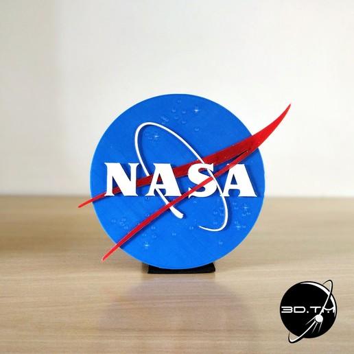 """NASA_002.jpg Télécharger fichier STL gratuit Insigne """"Meatball"""" de la NASA • Objet pour impression 3D, tmatosc"""