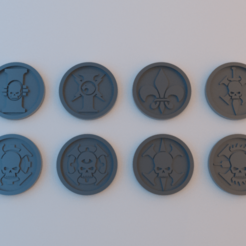 Tokens_40k_Imperial_Agents.png Download free STL file 40k Tokens - Imperial Agents - 40mm x 4mm • 3D printable object, alphaflight83