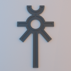 Necron_ankh.png Download free STL file Necron Ankh of the Triarch • 3D printable object, alphaflight83