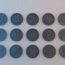 Tokens_40k_Chaos_4.png Download free STL file 40k Tokens - Forces of Chaos - 40mm x 4mm • 3D printable object, alphaflight83