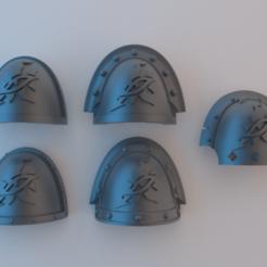 Descargar Modelos 3D para imprimir gratis (Caos) Hombreras de los Marines Espaciales - Los azotados, alphaflight83