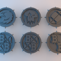Tokens_BloodBowl.png Download free STL file BB Tokens - 40mm x 4mm (plus spikes) • 3D print design, alphaflight83