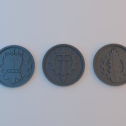 Imprimir en 3D gratis Fichas de 40k - Legiones de Titán - 60mm x 4mm, alphaflight83