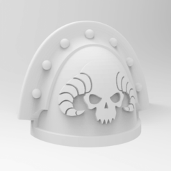Exorcists.png Télécharger fichier STL gratuit Épaulette Space Marine - Exorcistes • Objet imprimable en 3D, alphaflight83
