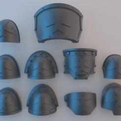 Descargar modelos 3D gratis Hombreras de los Marines Espaciales - Templarios Negros, alphaflight83