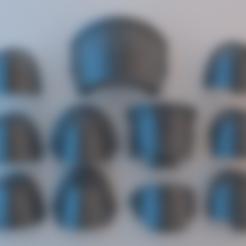 Descargar archivos 3D gratis Hombreras de los Marines Espaciales - Iron Hands v1, alphaflight83