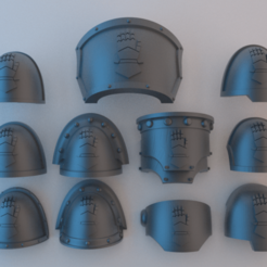Shoulder_Pads_Iron_Hands_v1.png Télécharger fichier STL gratuit Epaulières Space Marine - Iron Hands v1 • Design à imprimer en 3D, alphaflight83
