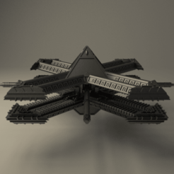 BSF6.png Download free STL file Gothic Chaotic Spacestation • 3D printer template, alphaflight83