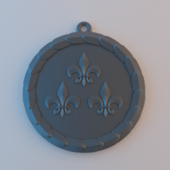 Vernon.png Download free STL file Witcher - Vernon Roche's Medallion • Object to 3D print, alphaflight83