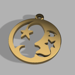moonpook.png Download free STL file earring moon • 3D printing object, mindhox