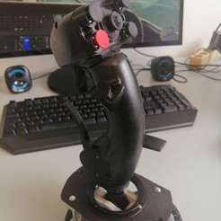 Impresiones 3D Joystick HOTAS flight stick, Miso988