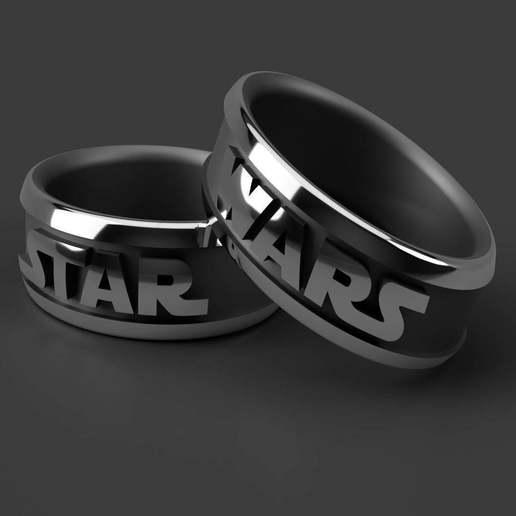 Download free 3D printer designs Star and Wars Ring diameter 15mm-30mm, WaterLemon