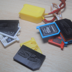 Download free STL file SD and micro SD holder 1-10 elements • Design to 3D print, WaterLemon