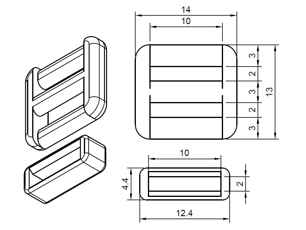 Beztytułu.png Download free STL file Self-locking buckle and loop • 3D printing object, WaterLemon
