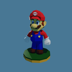 Mario Low Poly by RgsDev screenshot 1.png Télécharger fichier STL Super Mario Low Poly • Objet pour imprimante 3D, RgsDev