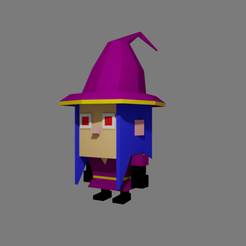 Tiny cute Witch low poly by RgsDev print 2.png Télécharger fichier STL gratuit Sorcière low poly • Plan pour impression 3D, RgsDev
