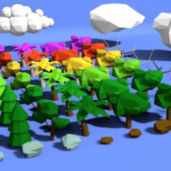 Download 3D printing models Low Poly Nature Pack, RgsDev
