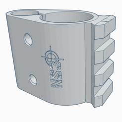 2020-12-02.png Télécharger fichier STL Support de canon PR900W + 1 rail (artemis, fox, snowpeak, ONIX Initzia) • Modèle pour impression 3D, rigardo