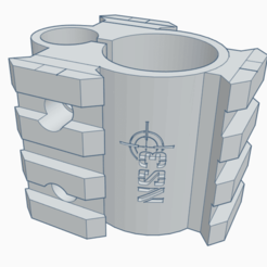 2020-12-02 (7).png Télécharger fichier STL Support de canon PR900W + 3 rails (artemis, fox, snowpeak, ONIX Initzia) • Design pour imprimante 3D, rigardo