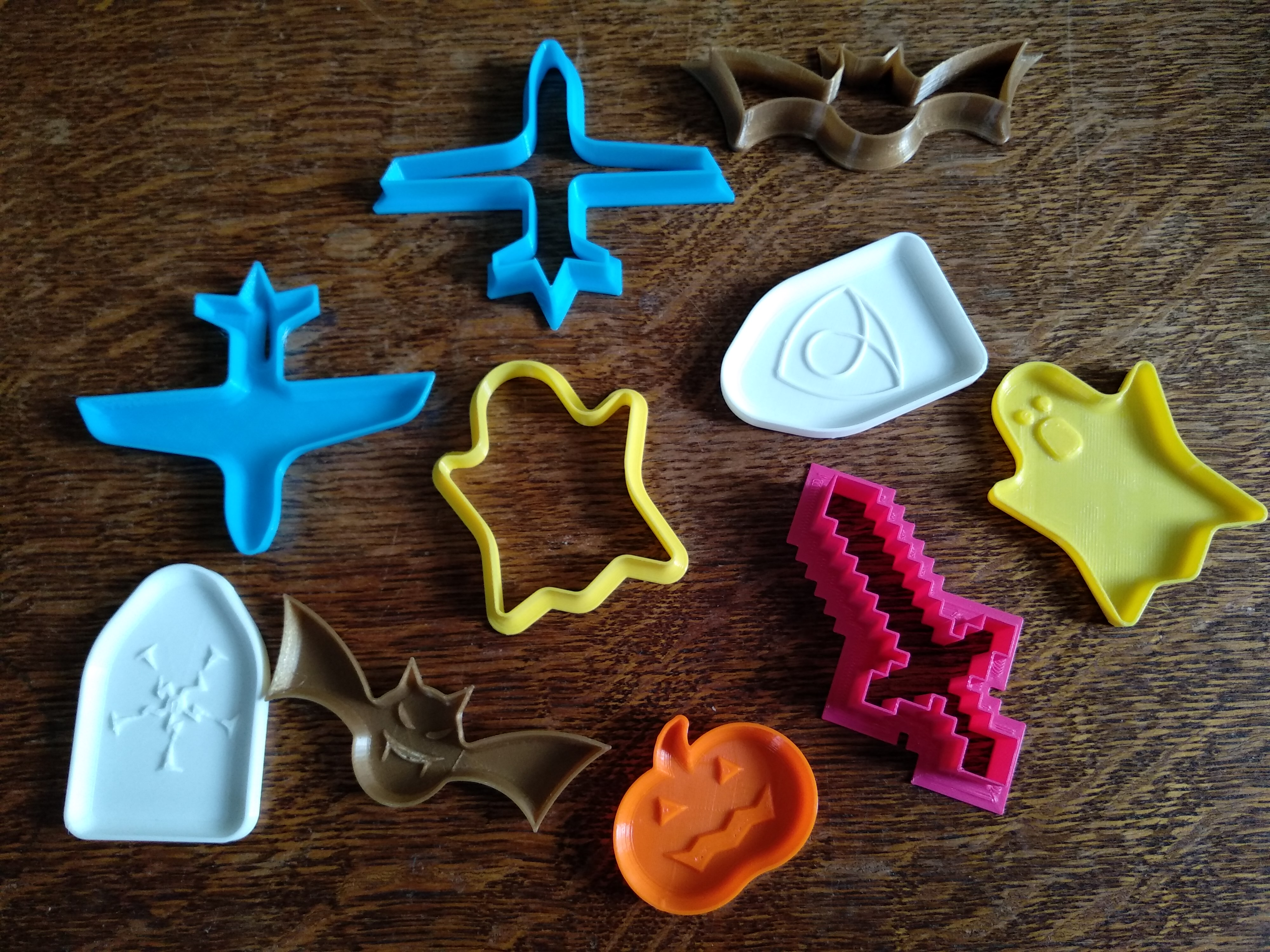 Download Free Stl File Halloween Cookie Cutters 3d Print Model Cults