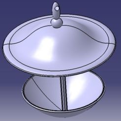 pic_2.PNG Download free STL file water trough for birds / abreuvoir pour oiseaux • 3D printing object, Neylips