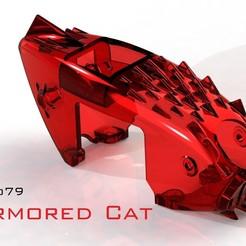 "Tyro_Armored_Cat.JPG Download free STL file Tyro79 ""Armored Cat"" • 3D printable design, bopiloot"