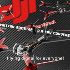 Armattan Rooster PIC3.png Télécharger fichier STL DJI FPV - Kit de conversion ultime Armattan Rooster v2 • Design pour imprimante 3D, bopiloot
