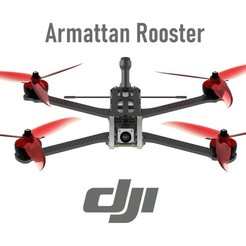 Download 3D printer designs DJI FPV - Armattan Rooster Ultimate Conversion Kit, bopiloot